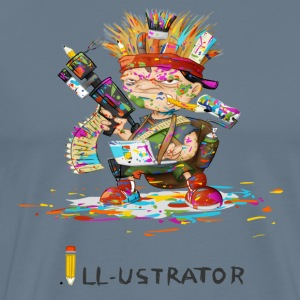 illustratör - Premium-T-shirt herr