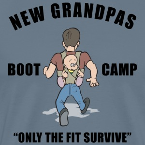 New Grandpa Boot Camp CUSTOMIZE ADD DATE YEAR - Men's Premium T-Shirt