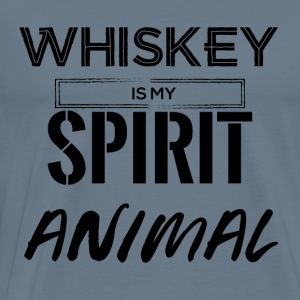 Whiskey is my Spirit Animal - Men's Premium T-Shirt