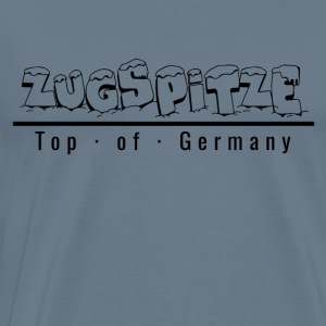 Zugspitze with snow - Top of Germany - Men's Premium T-Shirt