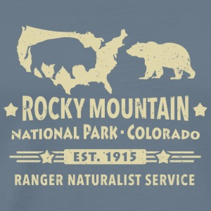 Bison Grizzly Rocky Mountain National Park Mountains - Men's Premium T-Shirt