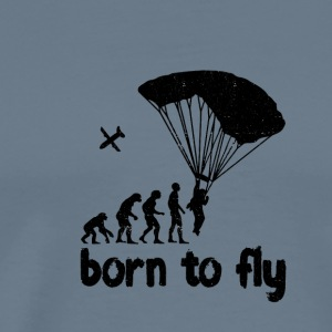 Evolution Skydiving - born to fly - Men's Premium T-Shirt