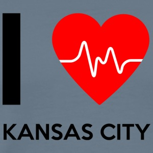 J'aime Kansas City - I love Kansas City - T-shirt Premium Homme