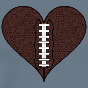 American Football Heart - Men's Premium T-Shirt