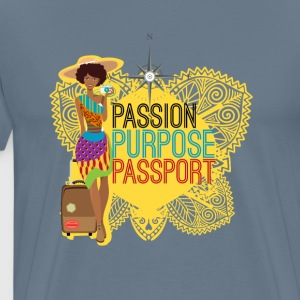 Passion, Purpose, pass - Premium-T-shirt herr