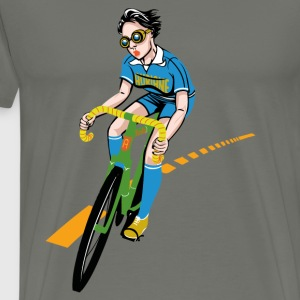 The Bicycle Girl - Miesten premium t-paita