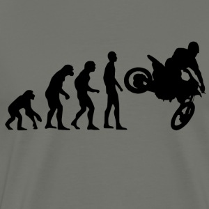 Human Evolution Motocross - Men's Premium T-Shirt