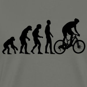 Evolution humaine Mountain Bike - T-shirt Premium Homme