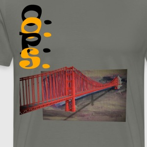 golden gate - Premium T-skjorte for menn
