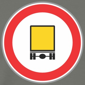 Road sign yellow truck - Men's Premium T-Shirt