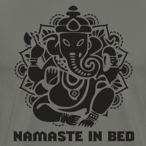 NAMASTE IN BED - Mannen Premium T-shirt