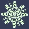 Native american sun, tribal art symbol, indians, - Men's Premium T-Shirt
