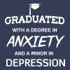 Graduated with degree in anxiety and depression - Men's Premium T-Shirt