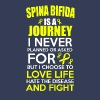 Spina Bifida Awareness! A Journey I Never Planned! - Men's Premium T-Shirt