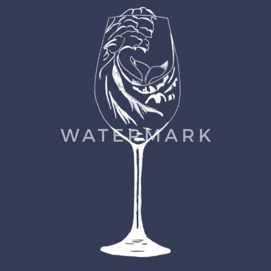 Verre à vin baleine blanc T shirt premium Homme | Spreadshirt