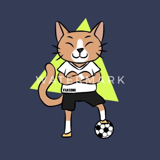 Katze Fussball Sport Cartoon Comic Kinder Geschenk Manner