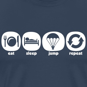 Eat Sleep Jump Repeat - Herre premium T-shirt