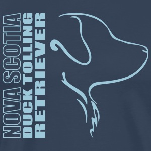 Nova Scotia Duck Tolling Retriever PROFIL - Premium T-skjorte for menn