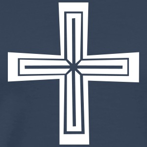 Christian cross - Premium T-skjorte for menn