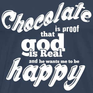 CHOCOLATE IS PROOF weiß - Männer Premium T-Shirt