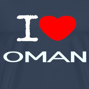I LOVE OMAN - Premium T-skjorte for menn