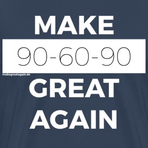 MAKE 90-60-90 GREAT AGAIN white - Men's Premium T-Shirt