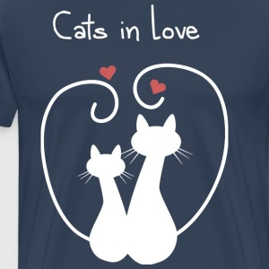Cats in Love - Men's Premium T-Shirt