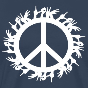 ++ ++ Love & Peace - Mannen Premium T-shirt
