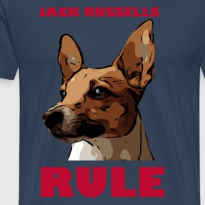 Jack russels rule red - Men's Premium T-Shirt