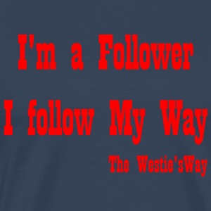 I follow My Way Red - Men's Premium T-Shirt