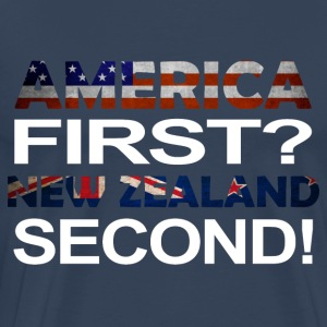 America first new zealand second - Men's Premium T-Shirt
