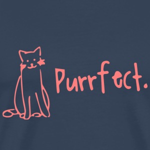 Purrfect - funny cat shirt - Men's Premium T-Shirt