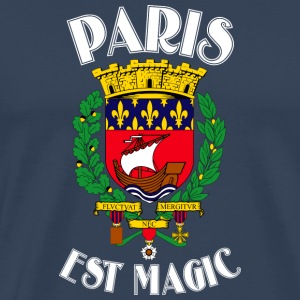 Paris Is Magic Blue - Männer Premium T-Shirt