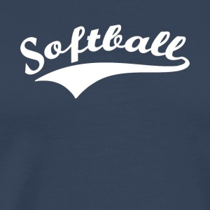 softbal v2 - Mannen Premium T-shirt