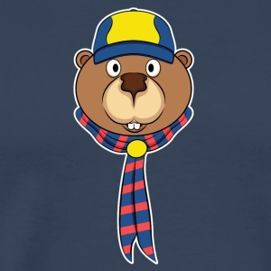 Beavers as scouts - Men's Premium T-Shirt