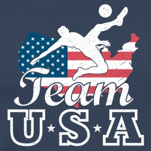 Team USA Fotball - Premium T-skjorte for menn