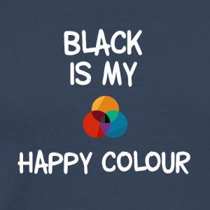 Black is my favorite color - color circle - Men's Premium T-Shirt