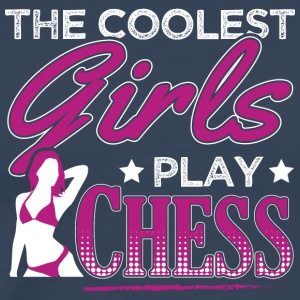 COOLEST GIRLS PLAY CHESS - Men's Premium T-Shirt