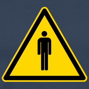 Warning Sign mensen - Mannen Premium T-shirt