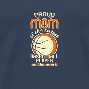 proud basketball mom - Männer Premium T-Shirt