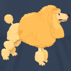Yellow poodle - Men's Premium T-Shirt