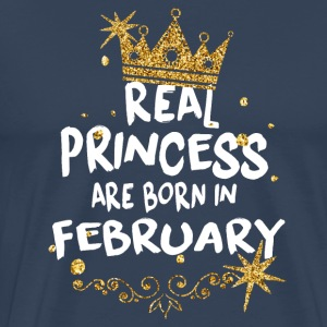 Real princesses are born in February! - Men's Premium T-Shirt
