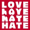 LOVE HATE - Männer Premium T-Shirt