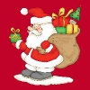Santa Claus with bag of gifts. - Men's Premium T-Shirt