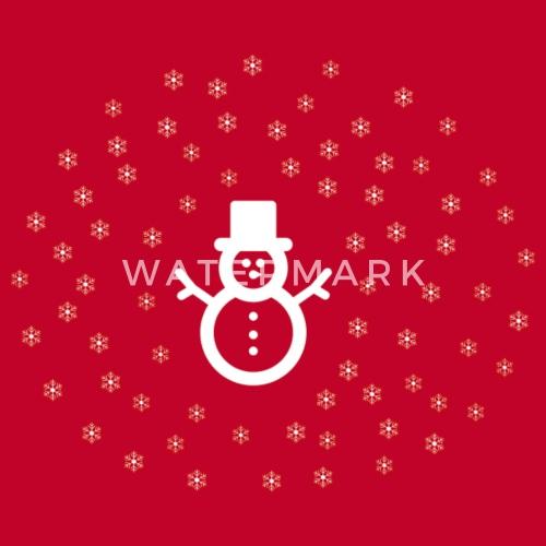 Snowman Vlokken Van Spreadshirt