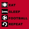 Eat, sleep, football, repeat. - Men's Premium T-Shirt