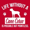Dog shirt: Life without a Cane Corso is pointless - Mannen Premium T-shirt