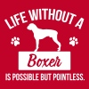 Dog shirt: Life without a Boxer is pointless - Maglietta Premium da uomo