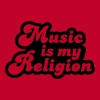 Music is my religion - Men's Premium T-Shirt