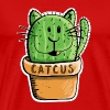 Catcus Cactus Cat - Cats - Cacti - Comic - Fun - Men's Premium T-Shirt